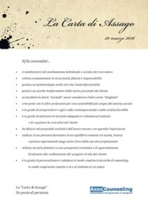 La Carta di Assago Counselingpisa it